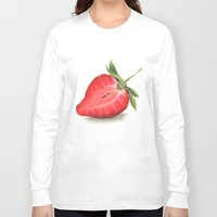 strawberry Long Sleeve T-shirts featuring Strawberry by Sam Luotonen