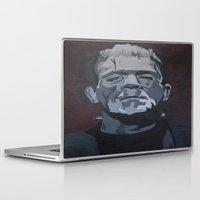 frankenstein Laptop & iPad Skins featuring Frankenstein by Paintings That Pop