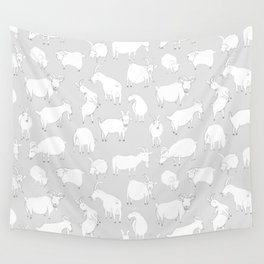 Charity fundraiser - Grey Goats Wall Tapestry
