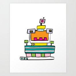 Big Smile Robot Art Print
