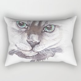 Cat Ragdoll Watercolor painting Rectangular Pillow