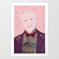 budapest hotel Art Prints featuring The Grand Budapest Hotel II by Itxaso Beistegui Illustrations