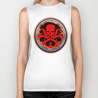 hydra Biker Tanks featuring Hail Hydra by Sdog1982