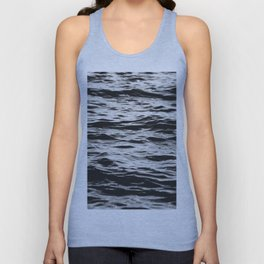 Marble Waters Black and White Unisex Tank Top