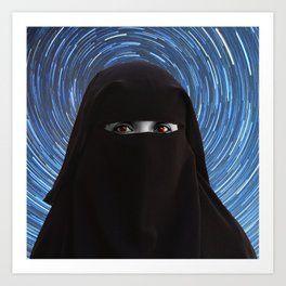 Starry Niqab Art Print