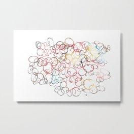 Pattern macaroons Metal Print