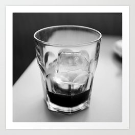 Timeless | Modern abstract black white coffee ice photography Art Print