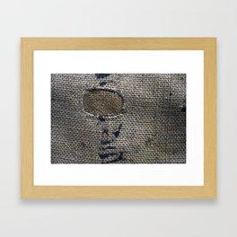 Old Hessian burlap  Framed Art Print