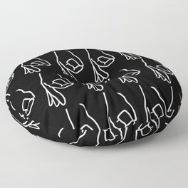 The Finger Circle Game Pattern Floor Pillow