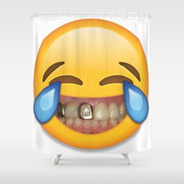 Tears Of Moderate Joy Shower Curtain