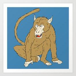 Macaco Art Print