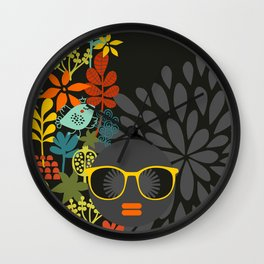 Afro Diva : Sophisticated Lady Gray Wall Clock