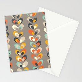 Retro seasons 06, Autumn evening Stationery Cards