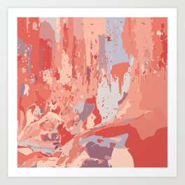 Autumn Abstract Colors Art Print