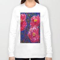 peony Long Sleeve T-shirts featuring Peony by NicholasVitale