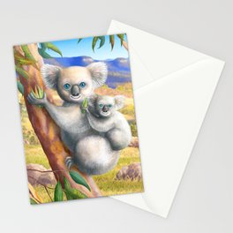 Koala and Joey Stationery Cards
