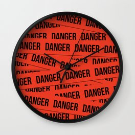 Danger Wall Clock