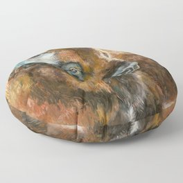 Bison Oil Painting Floor Pillow