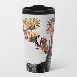 Spring Itself Deer Floral Travel Mug