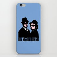 blues brothers iPhone & iPod Skins featuring Blues Brothers by John Medbury (LAZY J Studios)