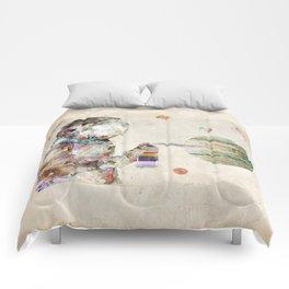 space graffiti Comforters