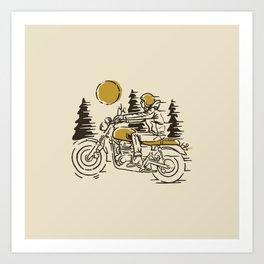Classic Biker Art Print