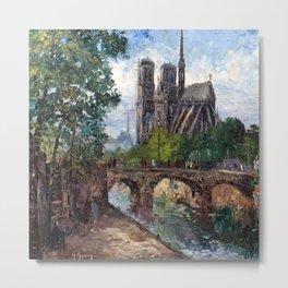 Notre Dame Circa 1869-1916 Metal Print