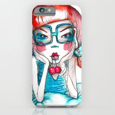 girl with cherry Slim Case iPhone 6s