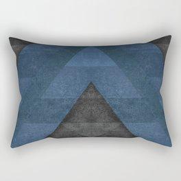 Geometric - Blue Rectangular Pillow
