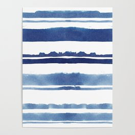 Watercolor Stripe Poster