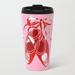 Red Ballet Shoes Travel Mug