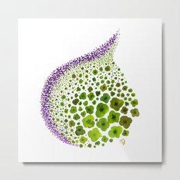 Paths of Color [green & purple] Metal Print