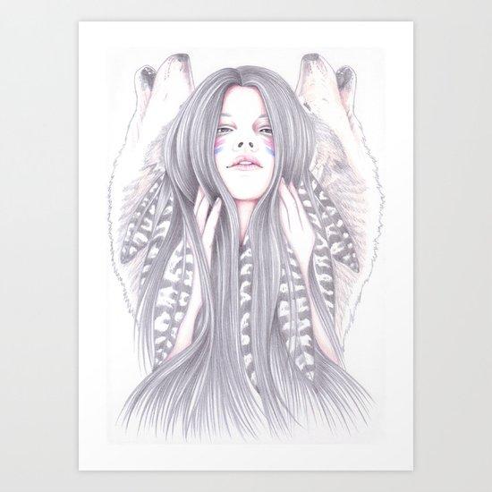 Shadowing Art Print