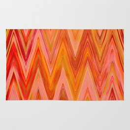 Coral geometric tribal aztec chevron zig zag stripes ikat pattern andes zigzag hipster print Rug