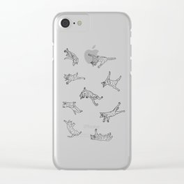 9 Flying Cats Clear iPhone Case