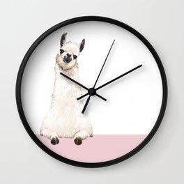 hi! Llama Wall Clock