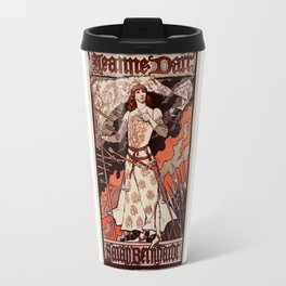 """Vintage French Poster for play """"Jeanne d'Arc"""" Travel Mug"""