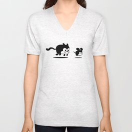 The Endless Cat and Mouse Chase Unisex V-Neck