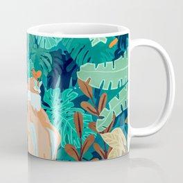 Backyard #illustration #painting Coffee Mug
