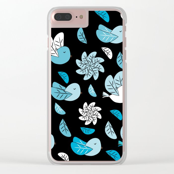 Birds at night Clear iPhone Case