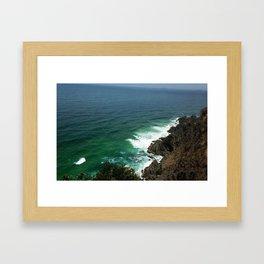 Byron Bay Sea Framed Art Print