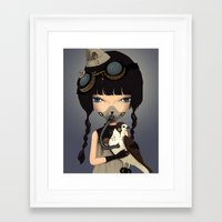 pilot Framed Art Prints featuring pilot by Anne  Martwijit