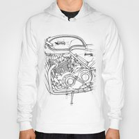 cafe racer Hoodies featuring NORTON COMMANDO 961 CAFE RACER 2011 by Larsson Stevensem
