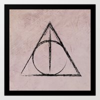 deathly hallows Art Prints featuring Deathly Hallows (Harry Potter) by Daizy Jain
