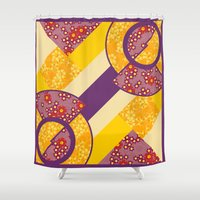 bauhaus Shower Curtains featuring Autumn Bauhaus by Heather Searles