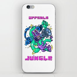 Uppsala Jungle noise gorilla iPhone Skin