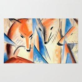 "Franz Marc ""Four foxes"" Rug"