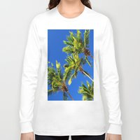 coconut wishes Long Sleeve T-shirts featuring Coconut Peaks by Tom Lee