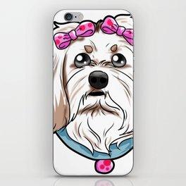 Havanese Dog Puppy Doggie Present Gift iPhone Skin