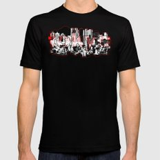 Tokyo skyline with Mount Fuji silhouette Mens Fitted Tee MEDIUM Black